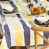 Multi Mod Tablecloth - Steel Grey/Lemon Zest