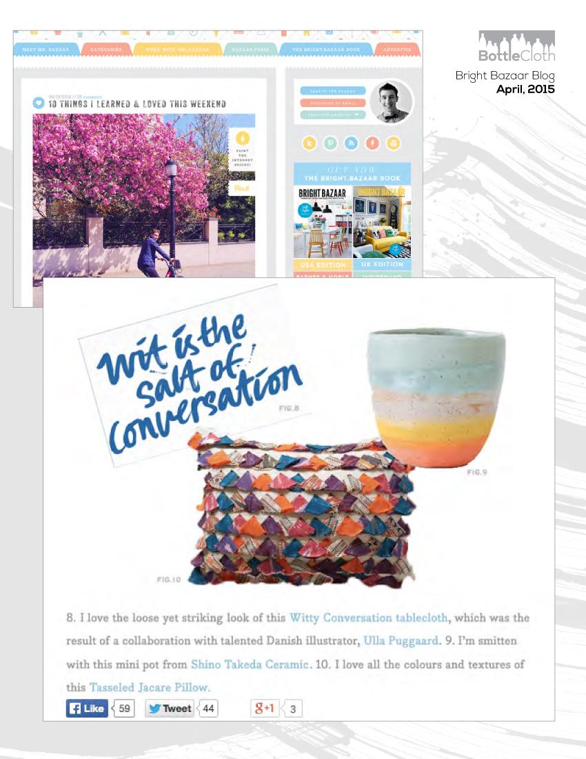 BottleCloth Press - Will Taylor Bright Bazaar Blog