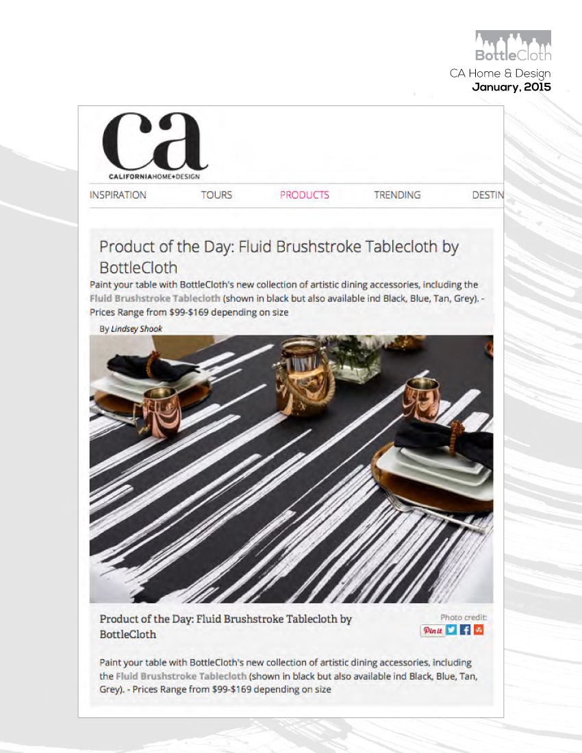 BottleCloth Press - California Home & Design