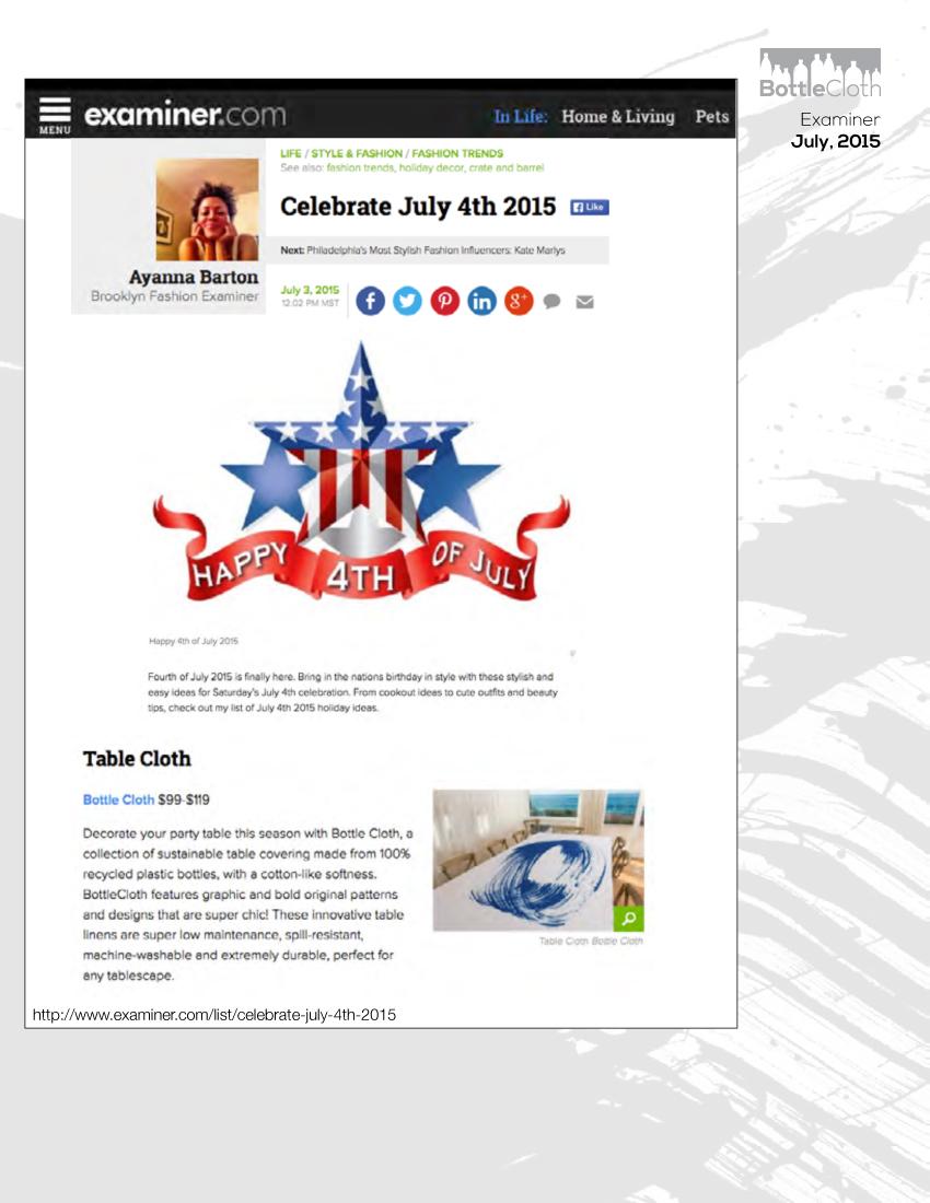 BottleCloth Press - Examiner.com