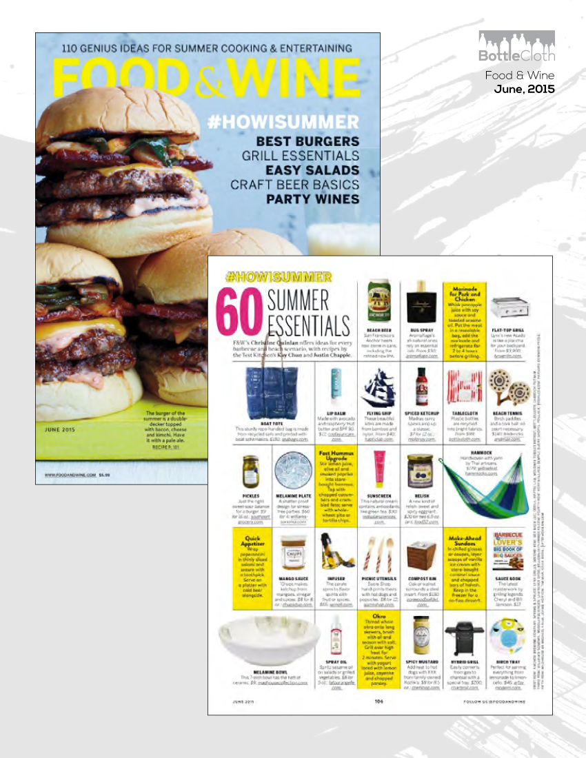 BottleCloth Press - Food & Wine Magazine