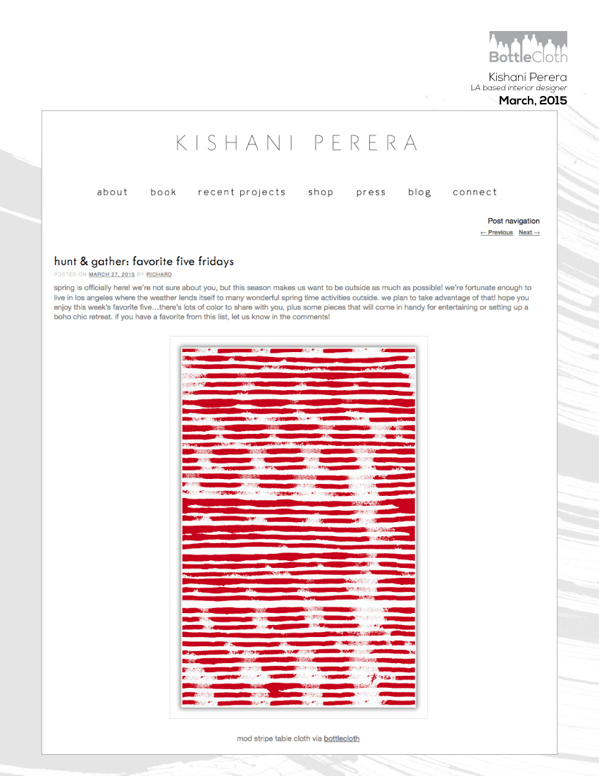BottleCloth Press - Kishan Perera Blog