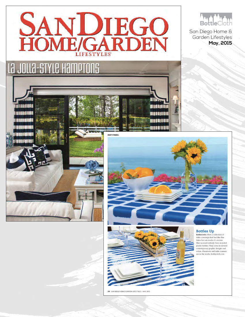 BottleCloth Press - San Diego Home & Garden Lifestyles