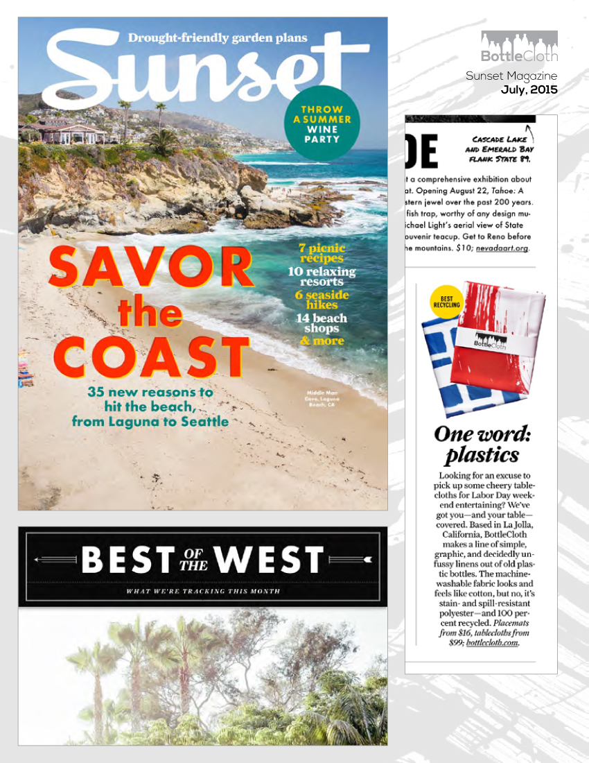 BottleCloth Press - Sunset Magazine