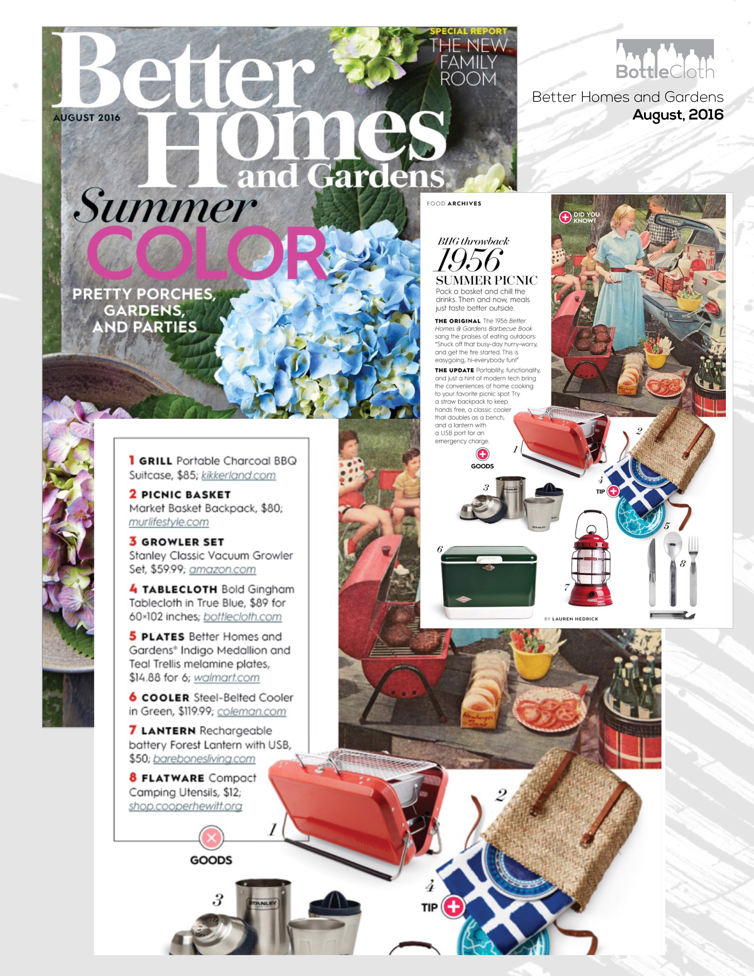 BottleCloth Press - Better Homes & Gardens